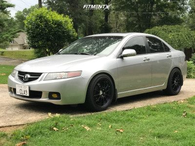 2005 Acura TSX - 18x8.5 38mm - Enkei NT03M - Coilovers - 235/40R18