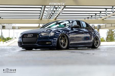 2014 Audi S4 - 19x9.5 37mm - Vossen LC-102T - Air Suspension - 255/35R19