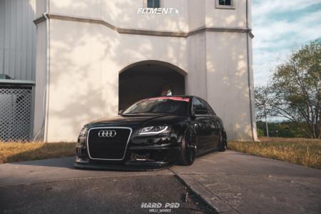 2008 Audi A4 Quattro - 18x9.5 35mm - Rotiform Buc - Air Suspension - 205/40R18