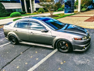 2007 Acura TL - 18x8.5 35mm - Aodhan Ah05 - Air Suspension - 235/40R18