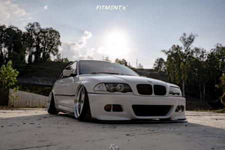 1999 BMW 323i - 19x10 15mm - Weds Kranze Bazreia - Air Suspension - 215/35R19