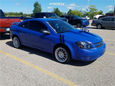 2008 Chevrolet Cobalt - 17x7.5 40mm - Enkei NT03M - Lowering Springs - 205/45R17