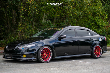 2007 Acura TL - 18x10 25mm - Weds Kranze Erm - Coilovers - 255/35R18