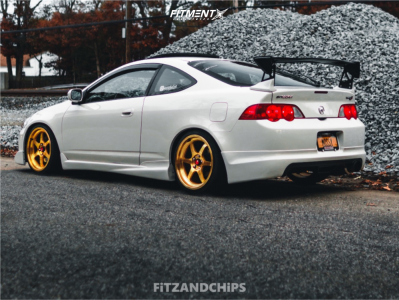 2002 Acura RSX - 18x8.5 35mm - Aodhan Ah08 - Coilovers - 205/40R18