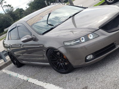 2008 Acura TL - 18x9.5 15mm - Cosmis Racing Mrii - Coilovers - 225/40R18