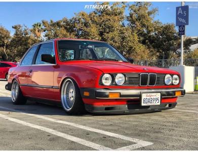 1984 BMW 325e - 15x8.5 17mm - Klutch Sl1 - Air Suspension - 195/30R15