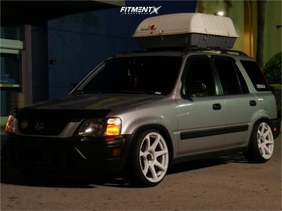 1998 Honda CR-V - 18x9.5 25mm - Cosmis Racing Mr7 - Coilovers - 215/35R18