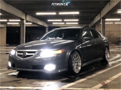 2005 Acura TL - 18x9.5 22mm - Aodhan DS02 - Lowering Springs - 235/40R18