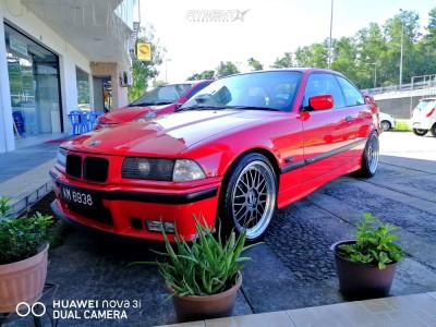 1992 BMW 318is - 18x8 35mm - BBS Lm - Lowering Springs - 225/40R18