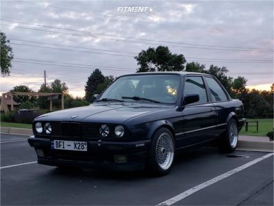 1987 BMW 325e - 16x8 25mm - JNC Jnc004 - Lowering Springs - 205/50R16
