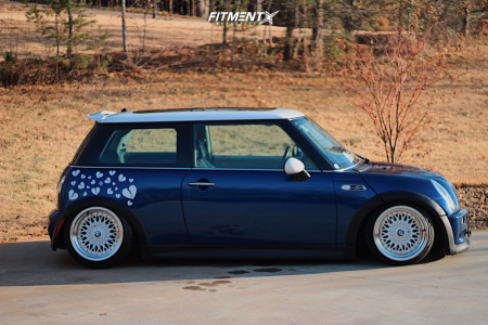 2003 Mini Cooper - 16x9 -15mm - BMW Style 5 - Coilovers - 195/40R16