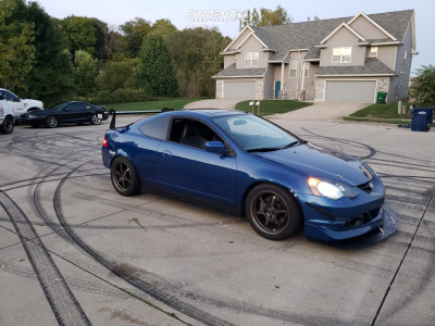 2002 Acura RSX - 17x9 28mm - Buddy Club Sf Challenge - Coilovers - 255/40R17