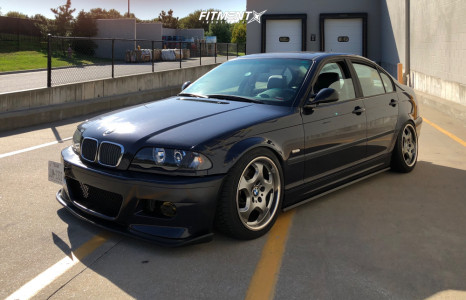 1999 BMW 323i - 17x7.5 45mm - BMW Style 23 - Coilovers - 225/45R17