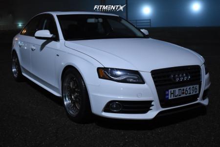 2012 Audi A4 Quattro - 18x8.5 30mm - ESR Sr01 - Lowering Springs - 245/40R18
