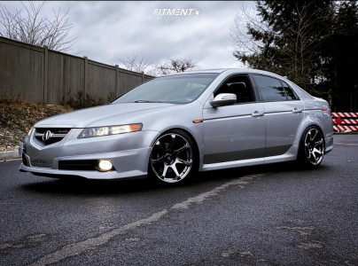 2008 Acura TL - 18x9 25mm - Cosmis Racing Mr7 - Coilovers - 225/40R18
