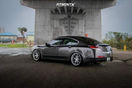 2011 Acura TL - 20x9 30mm - Aodhan Ls007 - Coilovers - 245/35R20
