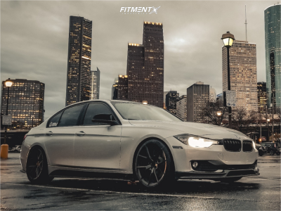 2014 BMW 320i - 19x8.5 30mm - Verde Axis - Lowering Springs - 235/35R19