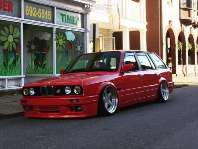 1989 BMW 325i - 17x8.5 13mm - Ac Schnitzer Type 1  3pcs - Air Suspension - 195/40R17