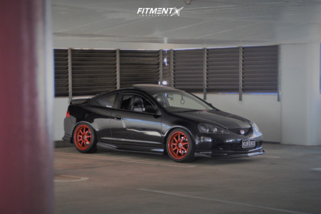 2005 Acura RSX - 18x9.5 30mm - Work Xd9 - Coilovers - 245/35R18