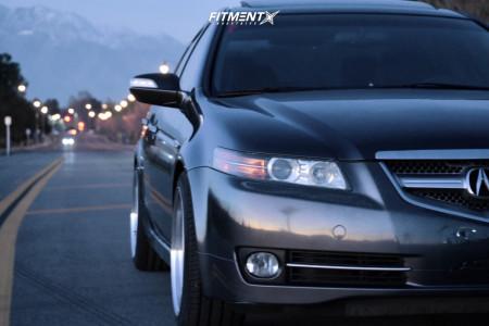 2007 Acura TL - 18x9 30mm - Variis VR09 - Lowering Springs - 235/40R18