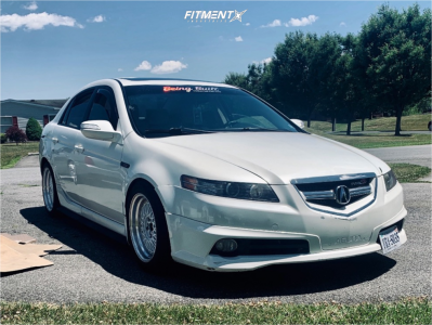 2008 Acura TL - 17x8.5 35mm - MST Mt13 - Coilovers - 245/20R17