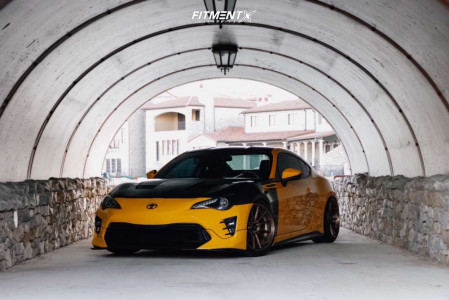 2015 Scion FR-S - 18x10.5 32mm - Cosmis Racing R1 Pro - Coilovers - 245/40R18