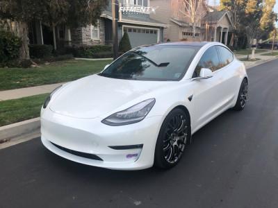 2018 Tesla 3 - 20x9 35mm - Volk G16 - Coilovers - 245/35R20