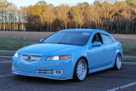 2007 Acura TL - 18x9.5 35mm - ESR Sr09 - Lowering Springs - 245/35R18