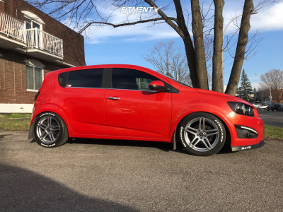 2012 Chevrolet Sonic - 17x7.5 38mm - Enkei Rsf5 - Coilovers - 225/45R17