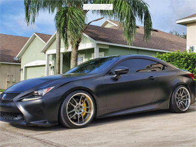 2016 Lexus RC200t - 19x9.5 22mm - Work Emotion Cr 2p - Coilovers - 235/35R19