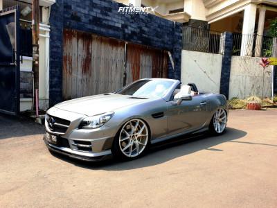 2013 Mercedes-Benz SLK250 - 20x8.5 45mm - Vorsteiner V-ff103 - Air Suspension - 225/35R20