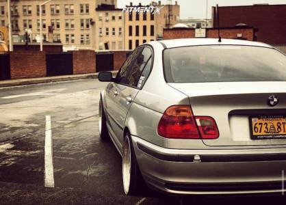 1999 BMW 323i - 18x9 25mm - JNC JNC005 - Lowering Springs - 245/40R18