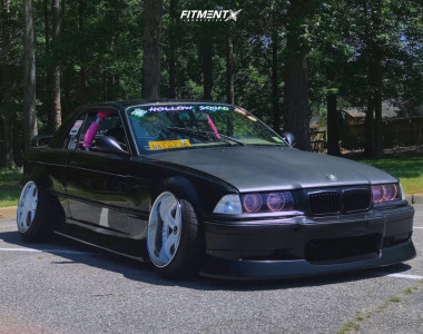 1994 BMW 325Ci - 18x10.5 -20mm - Work VS KF - Coilovers - 235/40R18
