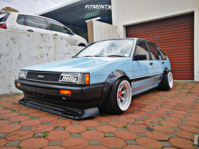 1986 Toyota Corolla - 15x9 -32mm - Atara Racing Pisang - Lowering Springs - 165/50R15
