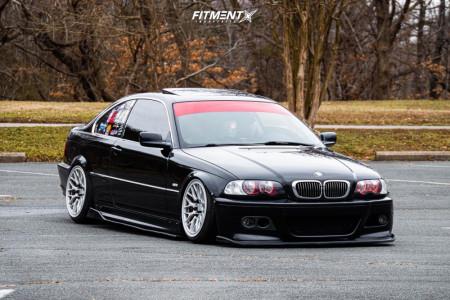 2001 BMW 325Ci - 18x9.5 22mm - ESM Esm-ff1 - Coilovers - 215/40R18