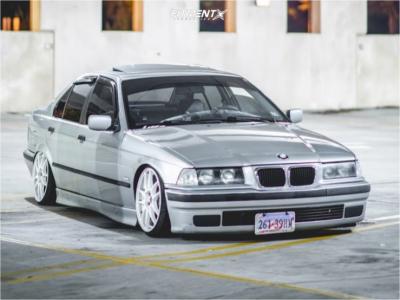 1997 BMW 328i - 17x8 35mm - Work Emotion Cr Kiwami - Coilovers - 195/40R17