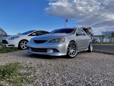 2005 Acura RSX - 18x9.5 15mm - Aodhan DS02 - Stock Suspension - 225/45R18