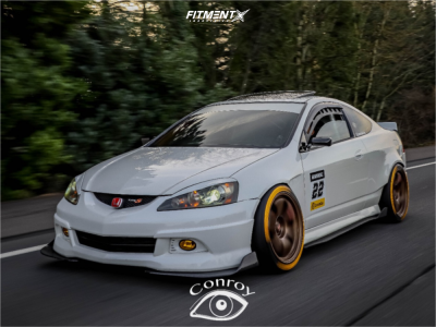 2006 Acura RSX - 18x10.5 12mm - Rays Engineering 57DR - Coilovers - 255/35R18