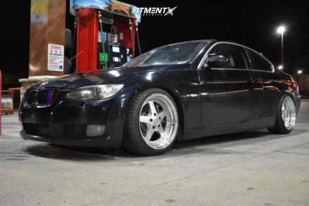 2008 BMW 335xi - 18x9.5 22mm - ESR SR04 - Coilovers - 225/35R18