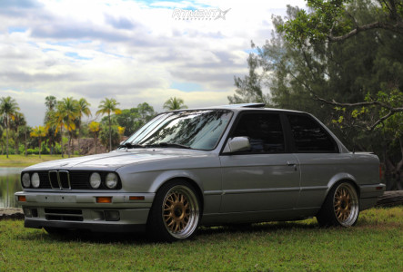 1991 BMW 318is - 17x8.5 20mm - ESM Esm-004m - Coilovers - 215/40R17