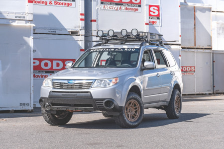 "2010 Subaru Forester - 15x7 10mm - KMC Km716 - Suspension Lift 2.5"" - 215/75R15"