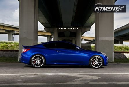 2011 Hyundai Genesis Coupe - 20x9 20mm - Concavo Wheels CW-S5 - Lowered Adj Coil Overs - 245/35R20