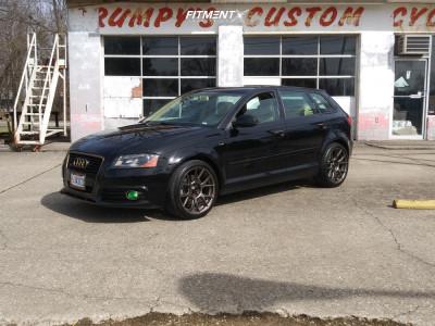 2011 Audi A3 Quattro - 18x8.5 43mm - Konig Ampliform - Stock Suspension - 245/35R18