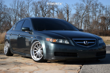 2005 Acura TL - 18x9.5 22mm - Aodhan Ds07 - Coilovers - 215/40R18