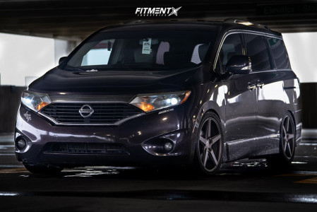 2011 Nissan Quest - 20x9.5 35mm - KMC Km685 - Coilovers - 245/50R20