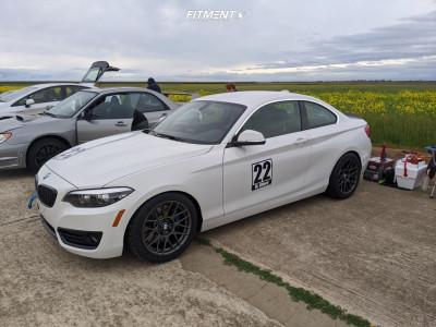 2018 BMW 230i - 17x9 42mm - Apex Arc-8 - Lowering Springs - 255/40R17