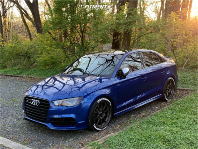 2015 Audi S3 - 18x8.5 42mm - Konig Dekagram - Coilovers - 235/40R18
