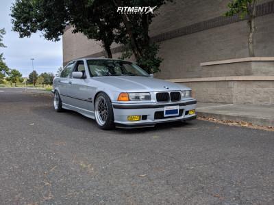 1996 BMW 328i - 17x8.5 30mm - JNC JNC005 - Coilovers - 215/45R17