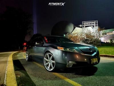 2009 Acura TL - 20x9.5 35mm - F1R F35 - Stock Suspension - 245/45R20