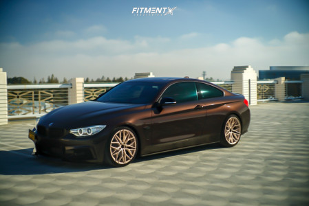 2015 BMW 435i - 19x8.5 33mm - 305 Forged FT107 - Lowering Springs - 235/35R19